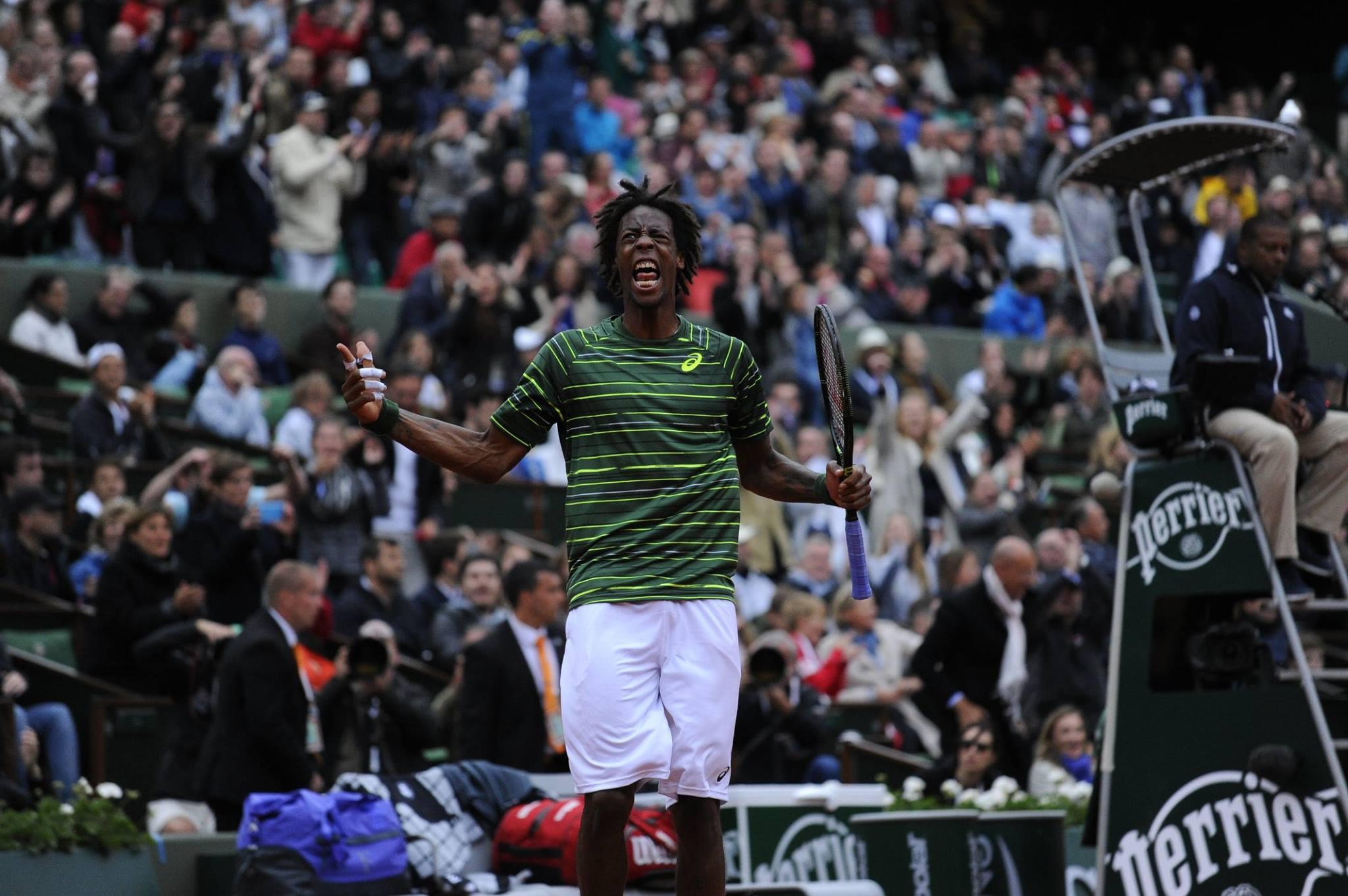 Gael Monfis protagonizou até agora um dos melhores encontros do torneio. Fonte: Facebook Oficial de Roland Garros
