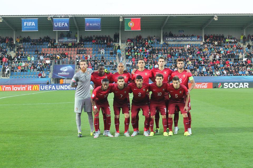 A seleção de Sub-21 está perto da próxima fase da competição: Fonte: Facebook 'Seleções de Portugal'