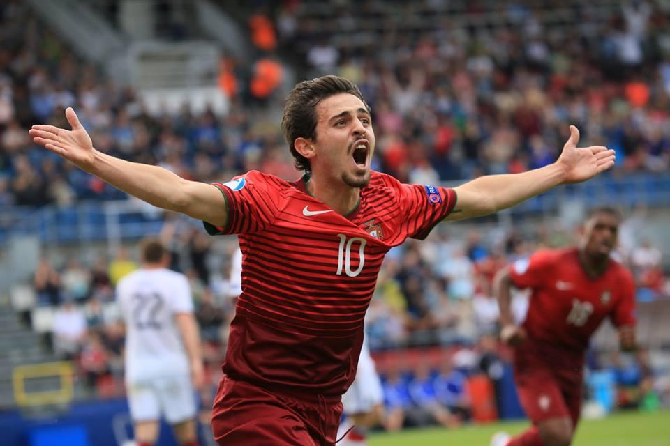 Bernardo Silva voltou a fazer uma excelente exibição, coroada com um golo Fonte: Página do Facebook do 'UEFA Under-21 Championship'