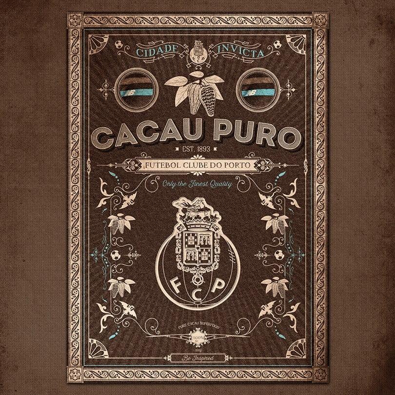 Cor de cacau… da terra, do trabalho, do esforço. Fonte: Facebook FC Porto