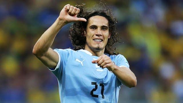 Na ausência de Suárez, será Cavani a assumir o protagonismo na formação uruguaia  Fonte: beinsports.fr