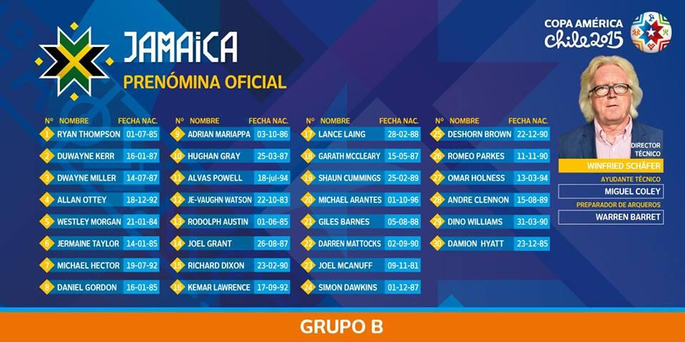 """Os """"reggae boys"""" estreiam-se na Copa América"""