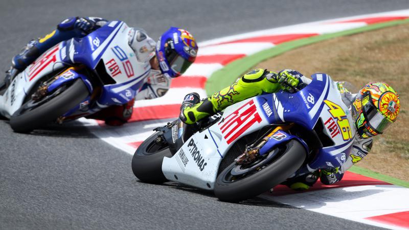 uma das maiores e mais emocionantes batalha do mundial de motociclismo, em 2009 Fonte: MotoGP.com