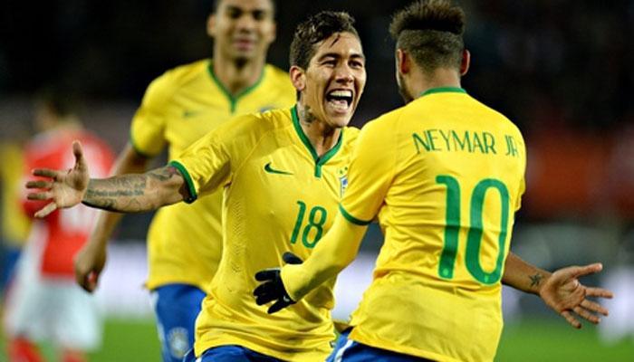 Roberto Firmino deverá ser titular no ataque, com a estrela Neymar  Fonte: latestnews360.com