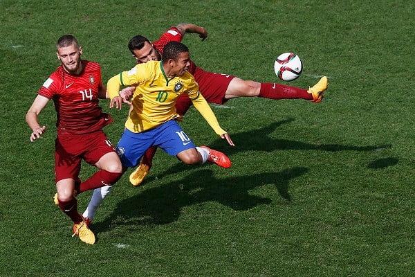 Num jogo de muita luta e onde Portugal foi melhor, a sorte sorriu ao 'escrete' Fonte: Página do Facebook 'Seleções de Portugal'