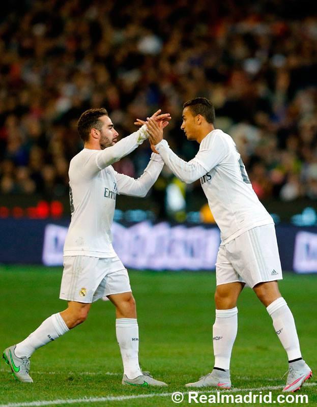 Carvajal e Danilo vão lutar pelo lugar de defesa direito Fonte: Facebook do Real Madrid