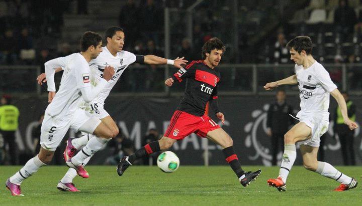 Brilhou de águia ao peito, num total de 179 jogos Fonte: Facebook do Sport Lisboa e Benfica