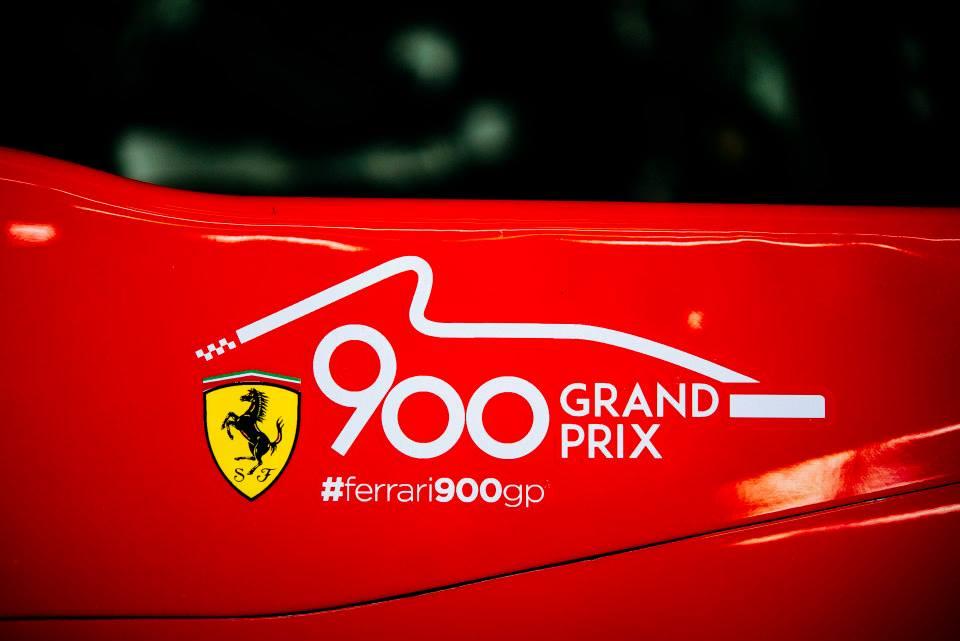 A Ferrari fez o seu GP número 900 Fonte: Facebook da Scuderia Ferrari