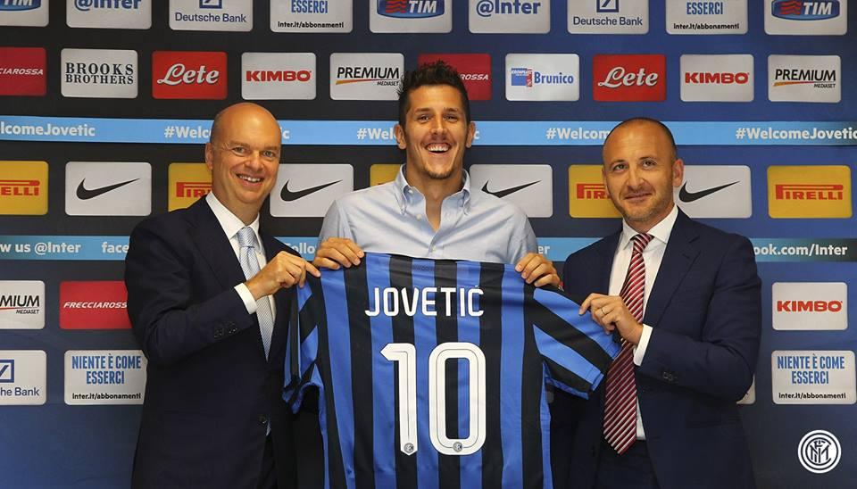 Stevan Jovetić foi um dos (bons) reforços do Inter de Milão neste defeso Fonte: Facebook do Inter de Milão