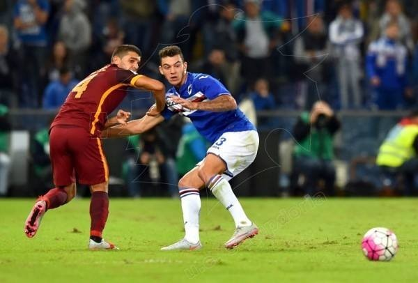 Pedro Pereira, menino de 17 anos, em ação frente à Roma Fonte: Facebook U. C. Sampdoria