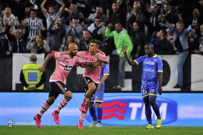 O golo de Zaza não foi suficiente para a Juventus vencer em casa o Frosinone Fonte: Facebook oficial da Juventus