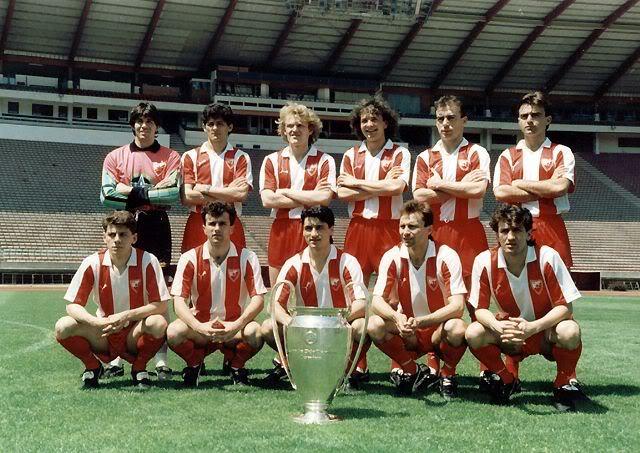A poderosa armada do FK Crvena zvezda que venceu o torneio em 1991 Fonte: historiadelfutbolenimagenes