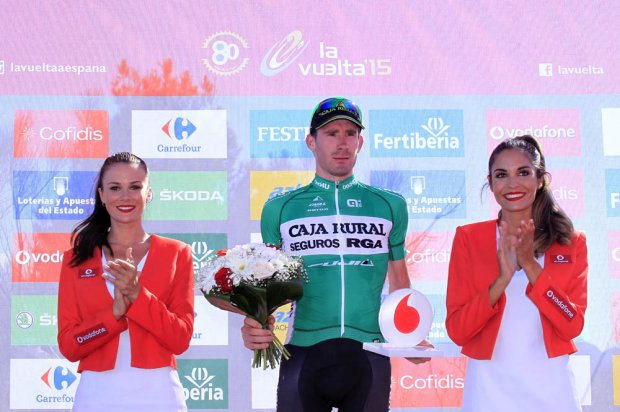 Antes da vitória de Nelson, foi José Gonçalves a levar para casa o prémio de mais combativo na etapa 2 da Vuelta Fonte: lavuelta.com