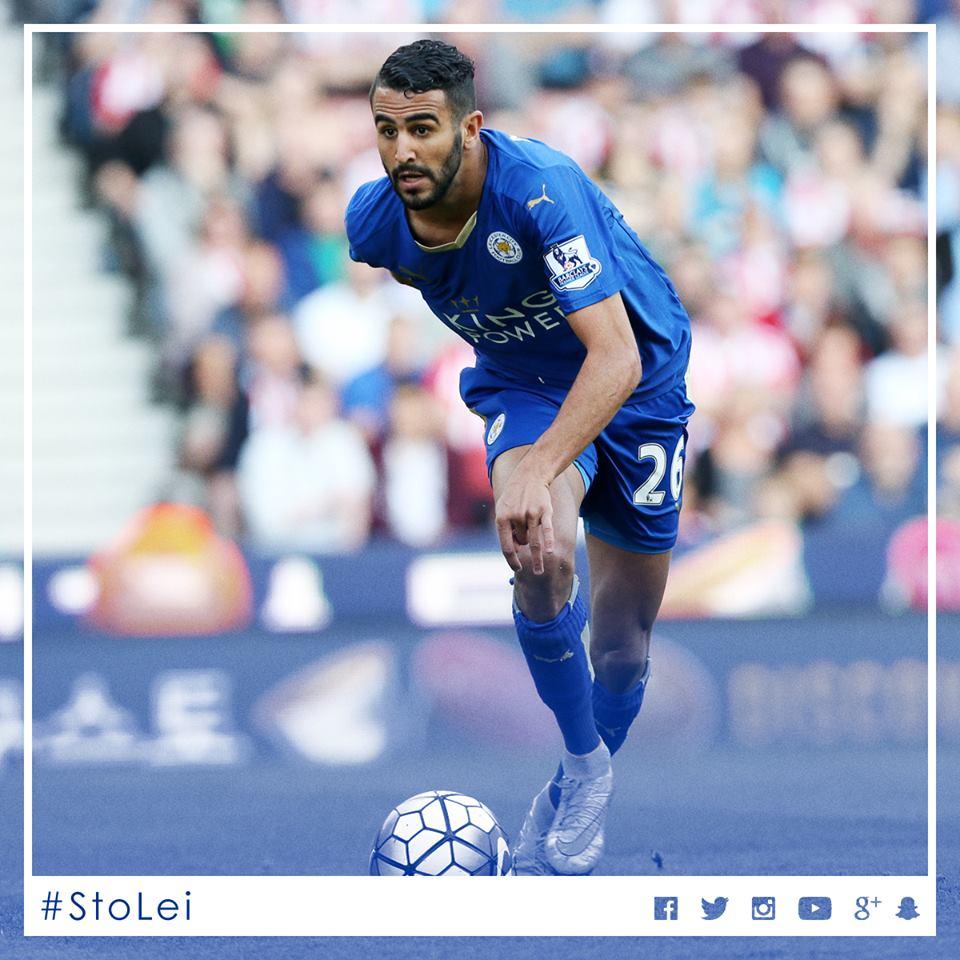 Quando a bola chega aos pés de Mahrez, o futebol é outro. Fonte: Facebook do Leicester