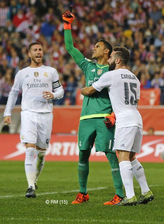 Keylor Navas foi novamente decisivo para o Real Madrid Fonte: Facebook do Real Madrid
