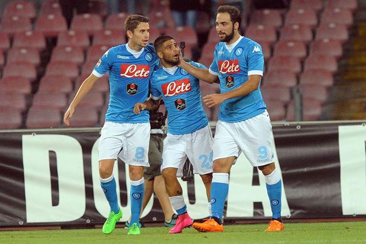 Insigne esteve endiabrado na goleada em San Siro Fonte: Facebook do Napoli