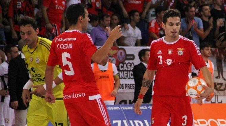 O Benfica conseguiu uma vitória tranquila na Quinta dos Lombos Fonte: Futsal Global