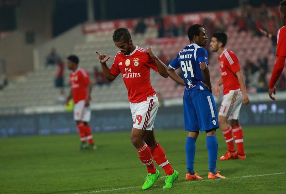Carcela com nota artística inaugurou o marcador Fonte: Sport Lisboa e Benfica