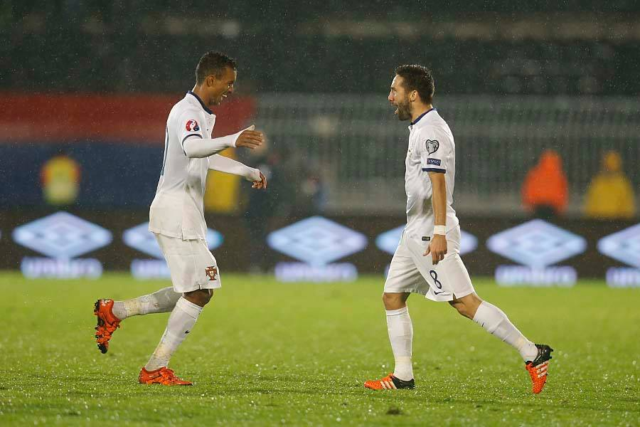 Os dois maiores astros portugueses (excluindo Ronaldo) marcaram os dois golos  Fonte: Facebook das Seleções Nacionais de Portugal