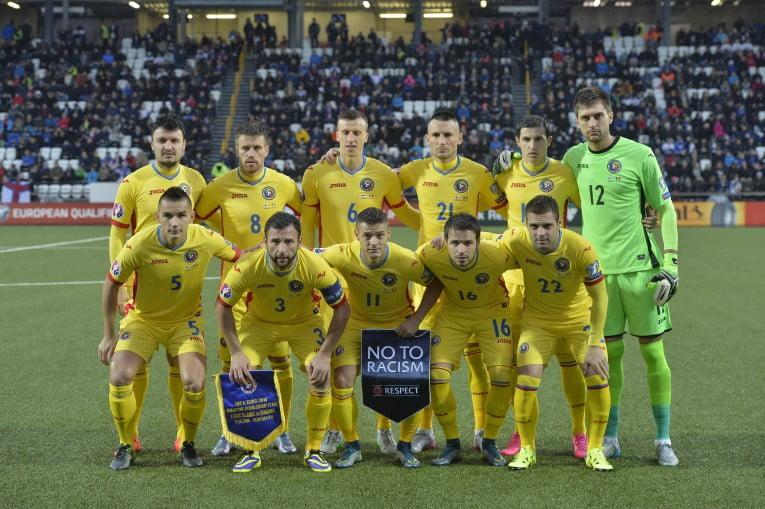 Os heróis romenos que garantiram o apuramento para o Euro 2016 no passado Domingo nas Ilhas Faroe Fonte: sportnews.libertatea.ro