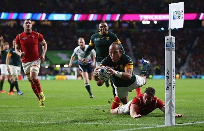 O capitão sul africano deu a vitória aos Springboks e assegurou a passagem às meias-finais Fonte: Rugby World Cup