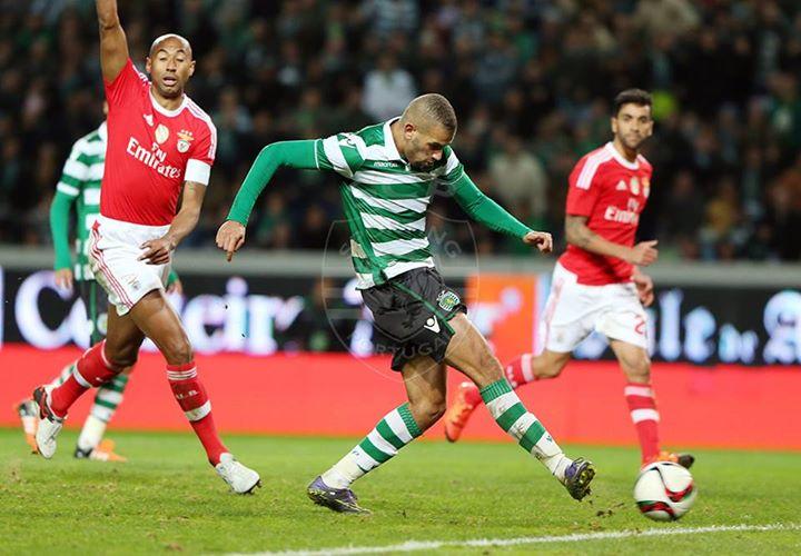 Slimani tinha um gosto especial em marcar aos grandes rivais do Sporting Fonte: Sporting CP