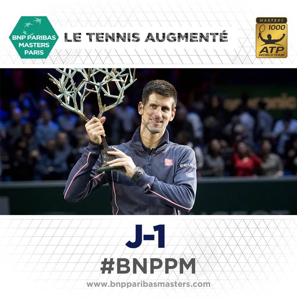 Djokovic é o campeão em título Fonte: Masters Paris