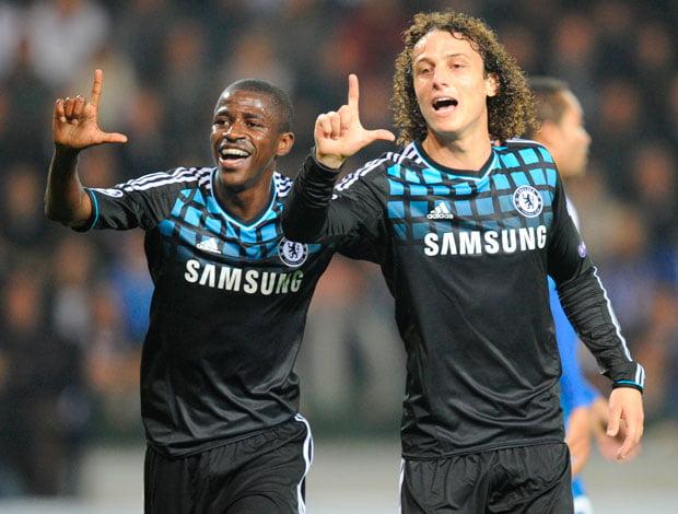 David Luiz e Ramires foram campeões pelo SL Benfica  Fonte: globoesporte