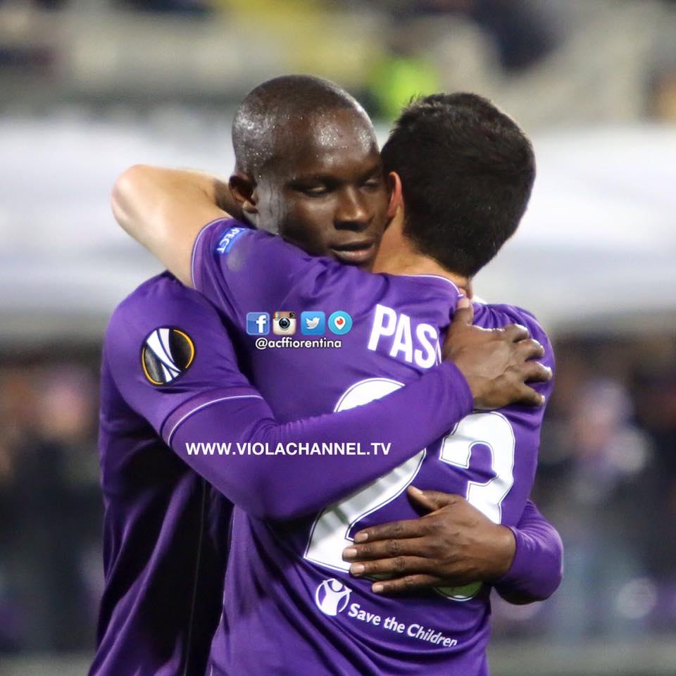 Babacar festeja com Pasquale o único golo do encontro Fonte: Facebook Oficial da ACF Fiorentina