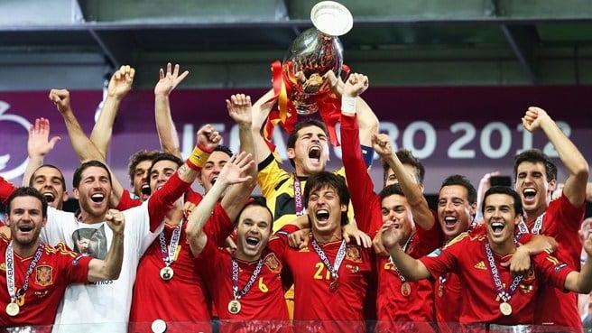 Uma seleção vencedora com base num clube; Fonte: UEFA