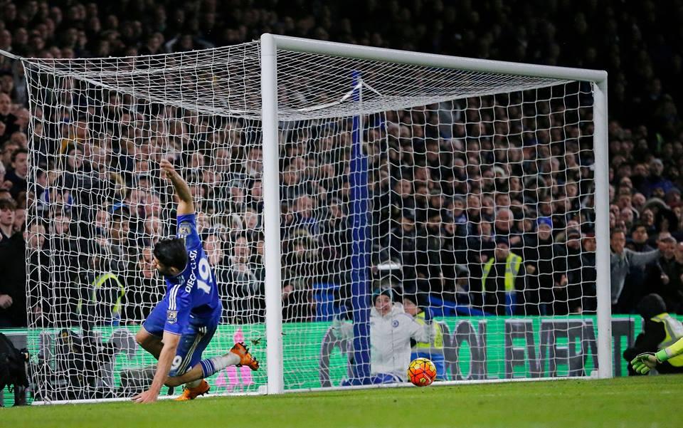 Diego Costa tanto insistiu que conseguiu o empate para os blues Fonte: Chelsea FC