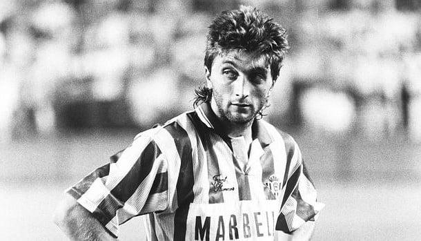 Trifon Ivanov ao serviço do Real Betis no inicio da década de 1990  Fonte - 7dnifutbol.bg