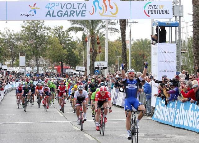 Kittel consegue a sua primeira de duas vitórias ao sprint nesta Volta ao Algarve  Fonte: Volta ao Algarve