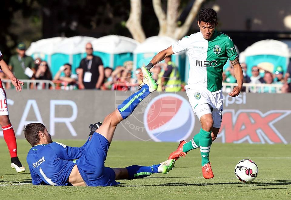 Um jogador especial, com uma camisola mágica, a marcar um golo para a história. Fonte: Sporting CP