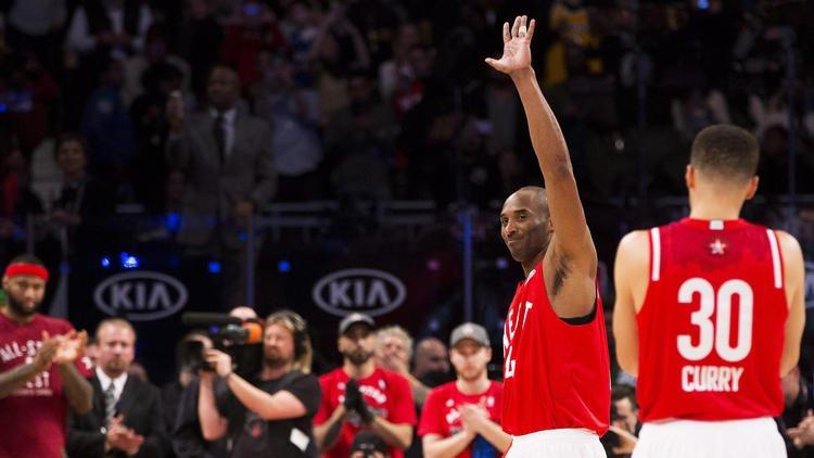 Este All-Star Game irá ficar também marcado como o último em que a lenda Kobe Bryant participou Fonte: latimes