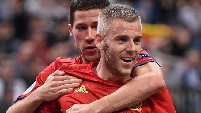 O espanhol Miguelin foi um dos melhores marcadores do torneio Fonte: UEFA