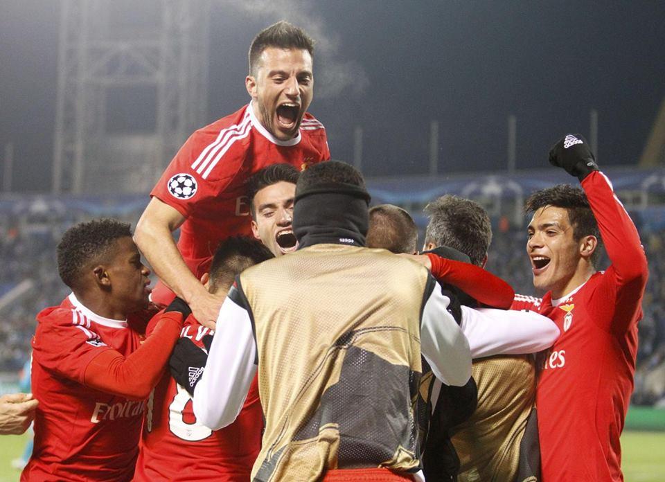 O Benfica regressa aos 'quartos' da Champions 4 anos depois Fonte: #SL Benfica