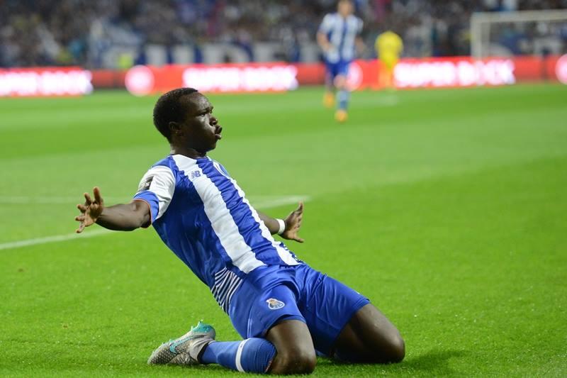 Aboubakar após ter inaugurado o marcador Fonte: FC Porto
