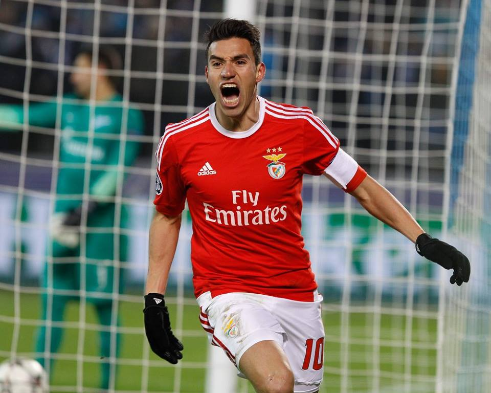Nico Gaitán marcou o golo decisivo Fonte: SL Benfica