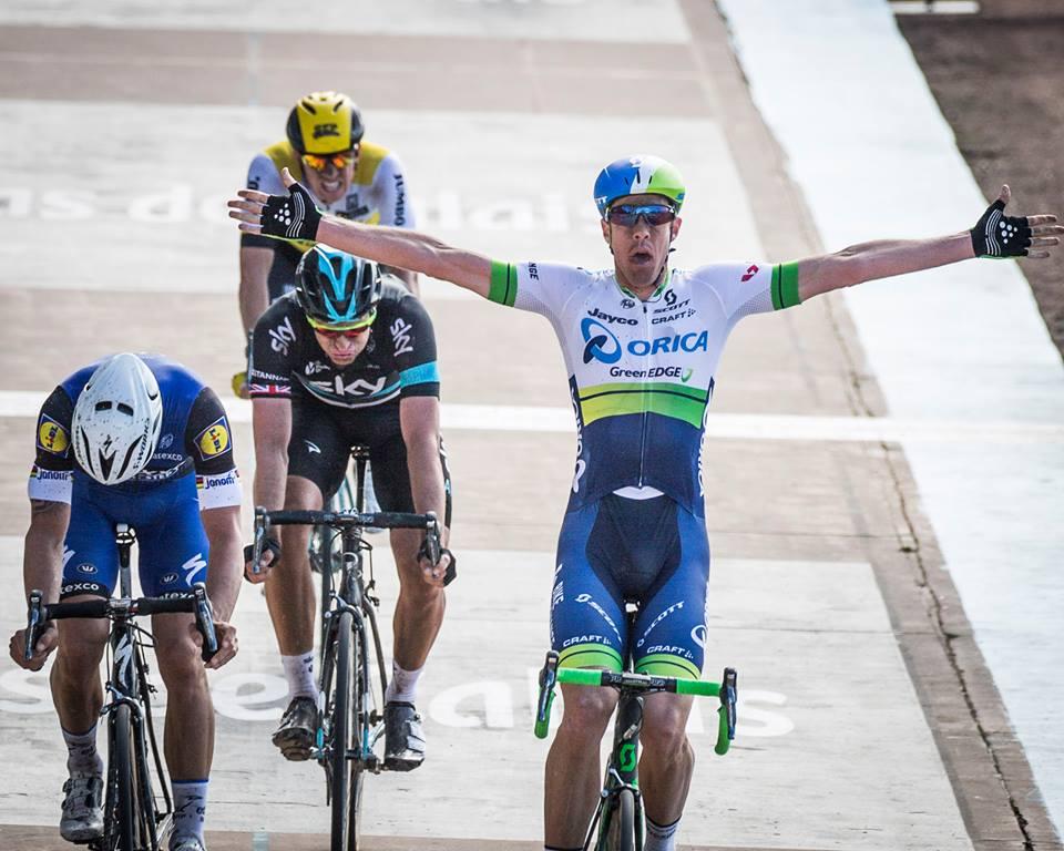 A vitória do australiano da Orica foi das maiores surpresas dos últimos tempos  Fonte: Paris-Roubaix