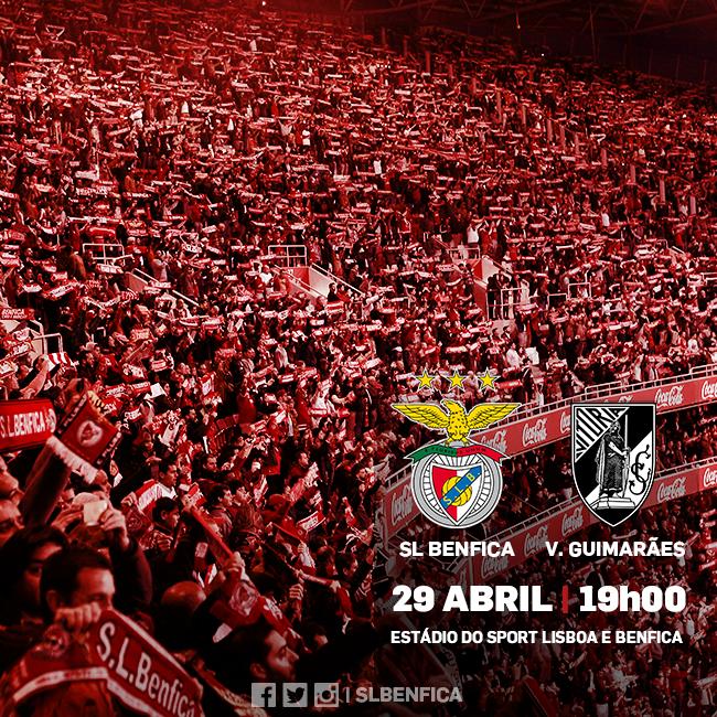 O jogo frente ao Vitória SC é muito importante para o SL Benfica Fonte: SL Benfica