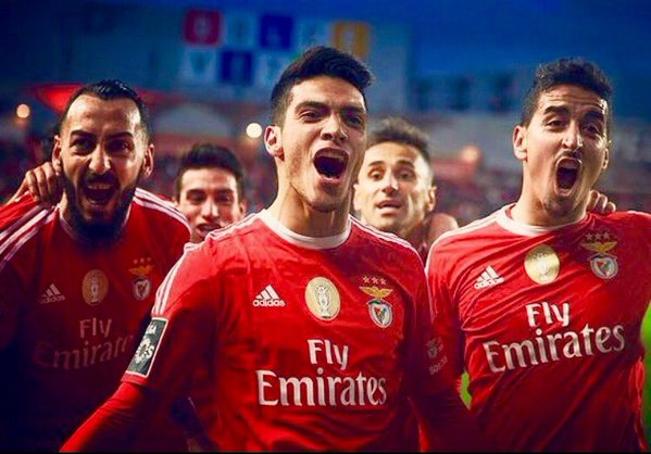 """Jiménez voltou a valer """"ouro"""" para o Benfica Fonte: #SL Benfica"""
