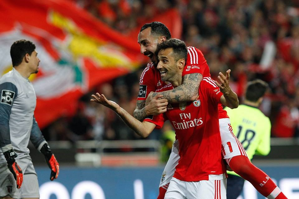 Esta dupla tem causado estragos à maior parte das defesas das equipas da Liga Fonte: SL Benfica