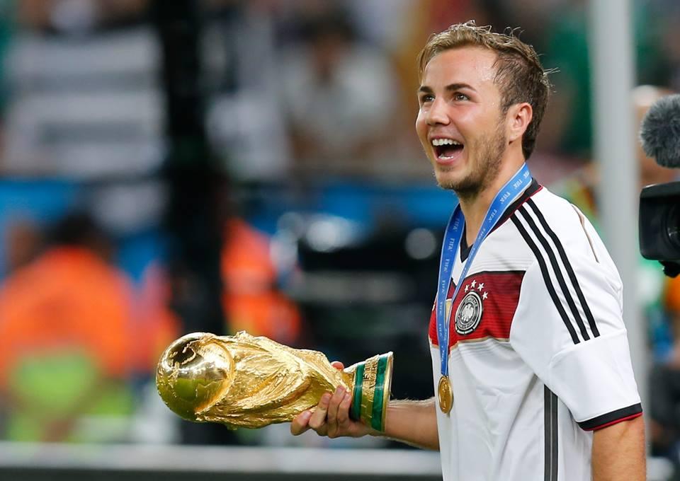 Götze num dos melhores momentos da sua carreira, a dar o Mundial à Alemanha em 2014 Fonte: FIFA