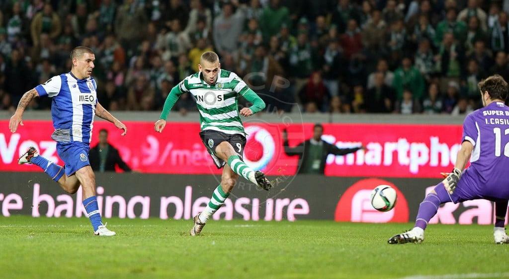 Slimani voltou a bater Casillas por duas vezes, tal como já tinha acontecido em Alvalade Fonte: Sporting CP