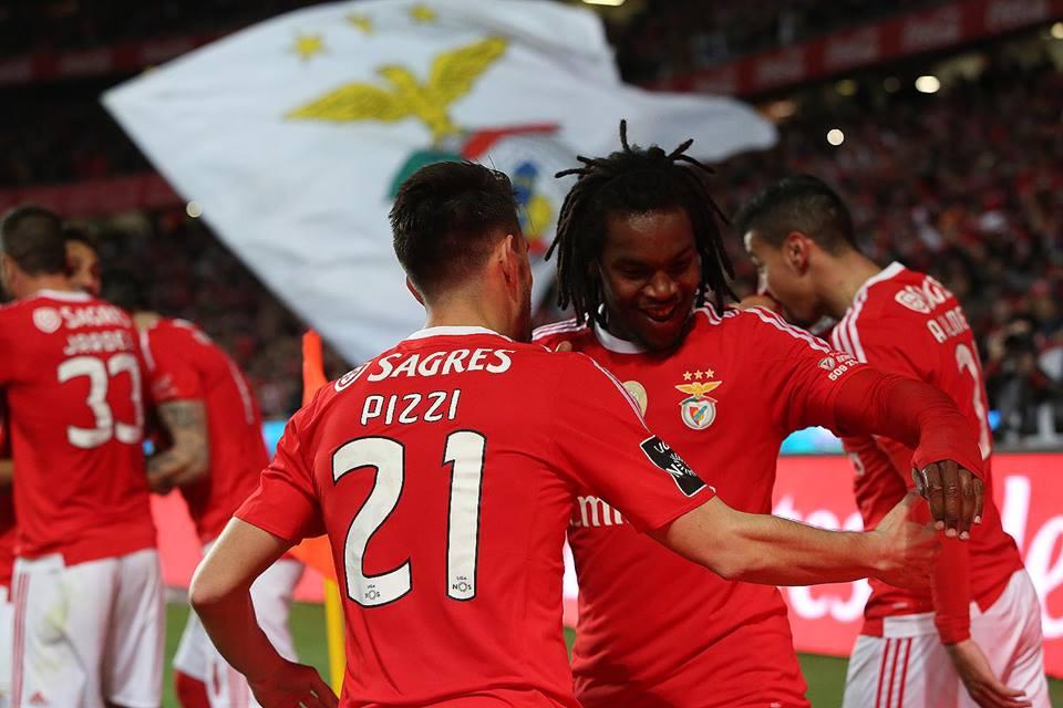 Pizzi foi um dos marcadores de serviço Fonte: SL Benfica