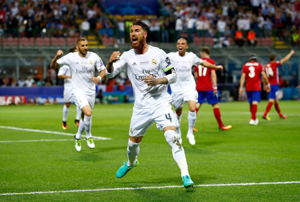 Sergio Ramos, o homem que decide finais Fonte: UEFA Champions League
