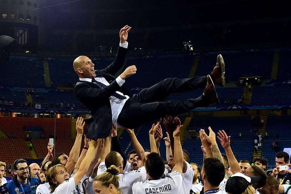 Zidane: uma aposta de sucesso Fonte: UEFA Champions League