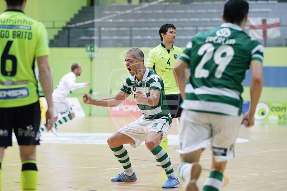 A vitória do Sporting frente ao Braga não espelha a facilidade que a equipa leonina sentiu no campeonato na grande maioria dos jogos Fonte: Sporting CP