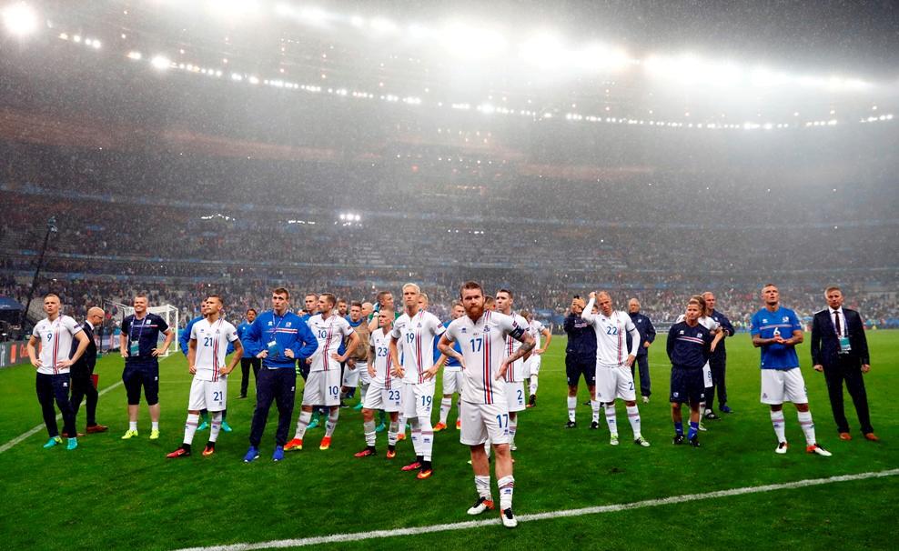 A Islândia sai de cabeça erguida do Euro'2016 Fonte: UEFA